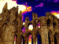 Dracula's Abbey in Whitby England