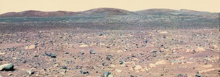 Colroized View of Mars from Rover Spirit