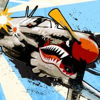P40 Warhawk Art Prints & Posters by Media Graffiti