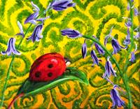 Lady luck, lady bug painting