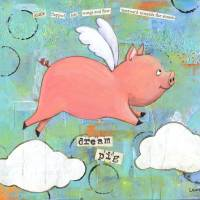 Dream Pig Art Prints & Posters by Laura Zarrin