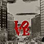 """Love Sculpture - Philadelphia - BW"" by FordLou"