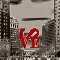 Love Sculpture - Philadelphia - BW Art Prints & Posters by Lou Ford