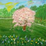 """Cherry tree on the field"" by elajanus"