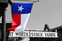 Texas Flag outside Stockyards