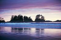 Sunset on Chesterman Beach Tofino B.C. photograph