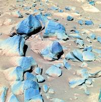Basaltic or Volcanic Rocks on Mars