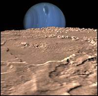 Neptune on Triton's Horizon