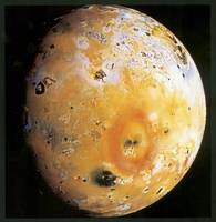 Io, Jupiter's Third Largest Moon with Volcanoes