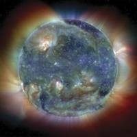 Color Composite Solar Features of the Sun