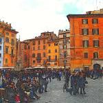"""""""Rome Piazza Della Rotunda 2"""" by JenniferLaskerWhite"""