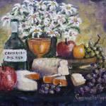 """""""Flowers Fruit & Wine"""" by StoneMeadowGallery"""