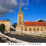 """Marlow Bridge and Church - titled"" by elvimage"