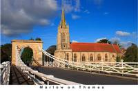 Marlow Bridge and Church - titled