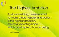 The Highest Ambition