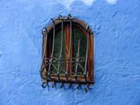 Window in Blue Wall
