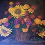 """Sunflower Basket"" by lesamac1"