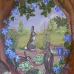 """Childrens Floral Bunny Garden"" by lesamac1"