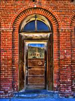 Old Bank Door