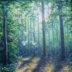 """""""Grove with Doves"""" by lesamac1"""