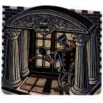 """Paddleball Doorman"" by LisaHaney"