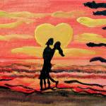 """Love in Sunset"" by silpy"