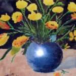 """Buttercups, Watercolor, 16x20"" by Yael"