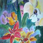 """Lillies and Orchids"" by Yael"