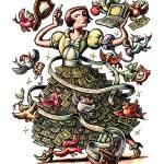 """Money Cinderella with dollar skirt"" by LisaHaney"