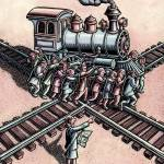 """Group Turning a Train"" by LisaHaney"