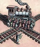Group Turning a Train