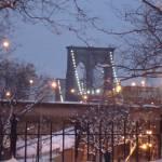 """Brooklyn Bridge at night"" by RitaFajita"