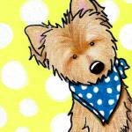 """Cairn Terrier on Dotted Yellow"" by KiniArt"