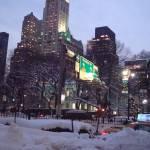 """""""Snow falls around the Brooklyn Bridge"""" by RitaFajita"""