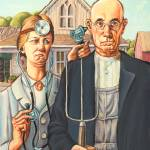 """American Gothic Doctor"" by LisaHaney"