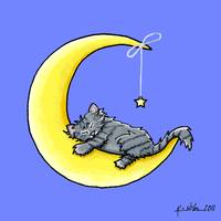 Gray Tabby Lunar Love
