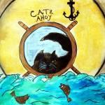 """""""Kitti  goes Fishing"""" by ArtznCatz"""