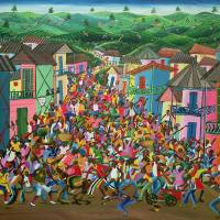 """Village Festival, Haiti by Inatace Alphonse"" by fineartmasters"