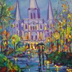 """Romance in Jackson Square"" by neworleansartist"