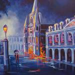"""Cool Blue Jackson Square"" by neworleansartist"