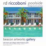 """Poolside Heritage Tourism Paintings"" by BeaconArtWorksCorporation"