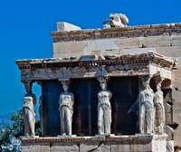 Caryatids at Parthenon in Athens Acropolis