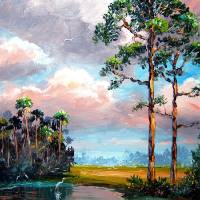 """Florida Slash Pine Wilderness"" by Mazz Original Paintings"