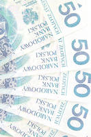 50 polish zloty background.