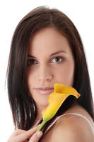 Young woman with calla.