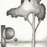 """Pen & Ink Illustration Of A Tree & Moons By Doug A"" by drawingwithdots"