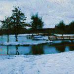 """Winter on the Pond"" by bluejawa"