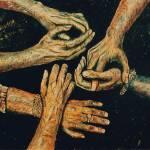 """3 artists hands"" by Artshedbg"