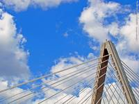 Bond Bridge w/ Blue Skies & Clouds, 28 Apr 2011