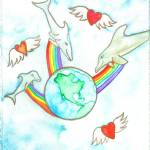 """""""3 Dolphins Sending Love to the Earth"""" by Christia"""